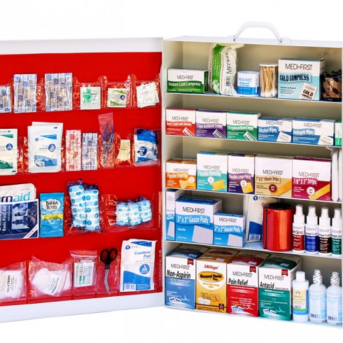 5 Shelf First Aid Cabinet